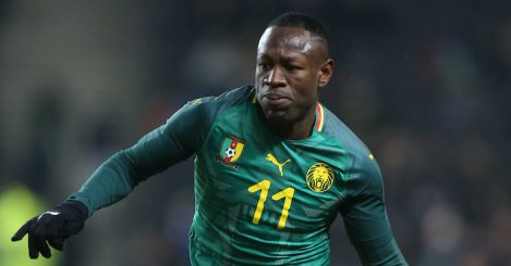MILTON KEYNES, ENGLAND - NOVEMBER 20: Christian Bassogog of Cameroon in action during the International Friendly match between Brazil and Cameroon at Stadium mk on November 20, 2018 in Milton Keynes, England. (Photo by Pete Norton/Getty Images)
