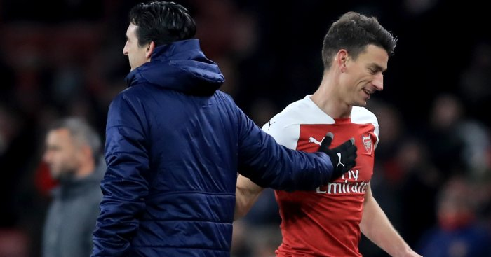Laurent Koscielny Unai Emery TEAMtalk