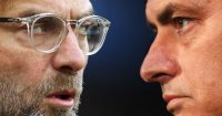 FILE PHOTO (EDITORS NOTE: COMPOSITE OF IMAGES - Image numbers 884421016,1065476010- GRADIENT ADDED) In this composite image a comparison has been made between Jurgen Klopp, Manager of Liverpool (L) and Jose Mourinho, manager of Manchester United. Liverpool and Manchester United meet in a Premier League match on December 16, 2018 at Anfield in Liverpool,England. ***LEFT IMAGE*** BRIGHTON, ENGLAND - DECEMBER 02: Jurgen Klopp, Manager of Liverpool looks on prior to the Premier League match between Brighton and Hove Albion and Liverpool at Amex Stadium on December 2, 2017 in Brighton, England. (Photo by Dan Istitene/Getty Images) ***RIGHT IMAGE*** MANCHESTER, ENGLAND - NOVEMBER 26: Jose Mourinho, manager of Manchester United looks on during a press conference at Old Trafford on November 26, 2018 in Manchester, England. (Photo by Nathan Stirk/Getty Images)