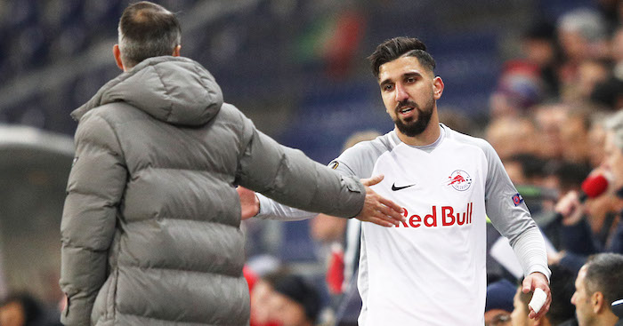 SALZBURG, AUSTRIA - NOVEMBER 23: during the UEFA Europa League group I match between FC Salzburg and Vitoria Guimaraes at Red Bull Arena on November 23, 2017 in Salzburg, Austria. (Photo by Adam Pretty/Getty Images)