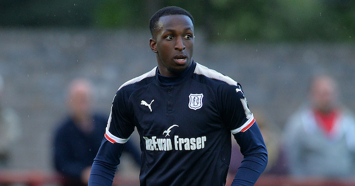 BRECHIN, SCOTLAND - JULY 11: Glen Kamara of Dundee in action during the pre season friendly between Brechin City and Dundee at Glebe Park on July 11, 2017 in Brechin, Scotland. (Photo by Mark Runnacles/Getty Images)