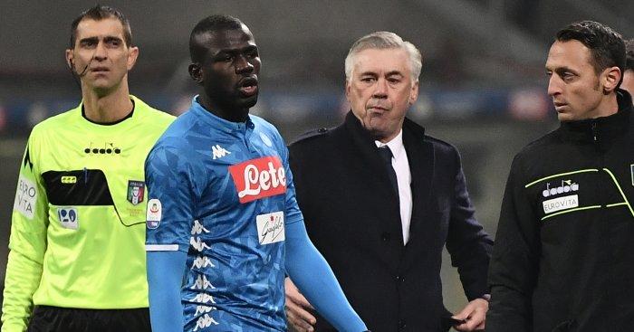 Kalidou Koulibaly Carlo Ancelotti TEAMtalk