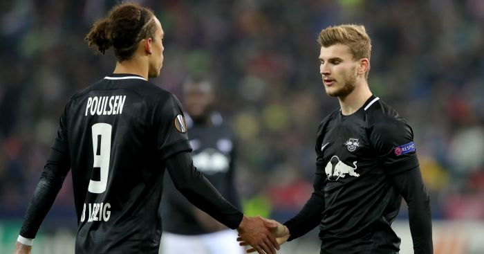 Yussuf.Poulsen.Timo .Werner - Leipzig hatch one final plan to stop Liverpool move for €40m star