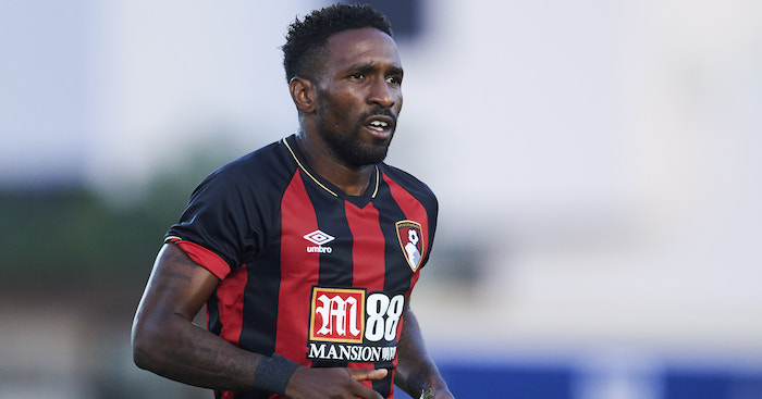 MURCIA, SPAIN - JULY 14: Jermain Defoe of AFC Bournemouth reacts during Pre- Season friendly Match between Sevilla FC and AFC Bournemouth at La Manga Club on July 14, 2018 in Murcia, Spain. (Photo by Aitor Alcalde/Getty Images)