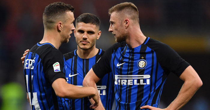 during the serie A match between FC Internazionale and US Sassuolo at Stadio Giuseppe Meazza on May 12, 2018 in Milan, Italy.