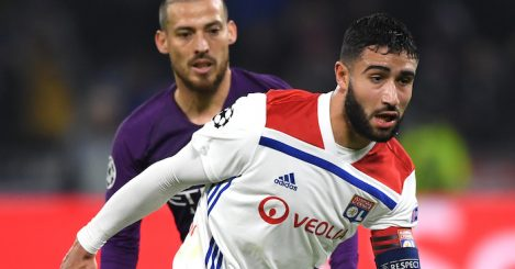 during the UEFA Champions League Group F match between Olympique Lyonnais and Manchester City at Groupama Stadium on November 27, 2018 in Lyon, France.