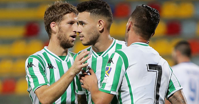 during the Pre-Season Friendly match between Frosinone Calcio and Real Betis on August 9, 2018 in Frosinone, Italy.
