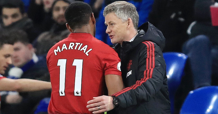 during the Premier League match between Cardiff City and Manchester United at Cardiff City Stadium on December 22, 2018 in Cardiff, United Kingdom.