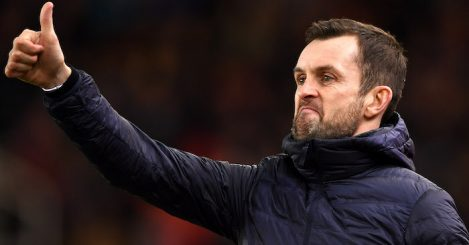 STOKE ON TRENT, ENGLAND - JANUARY 15: Nathan Jones, Manager of Stoke City signals during the FA Cup Third Round Replay match between Stoke City and Shrewsbury Town at Bet365 Stadium on January 15, 2019 in Stoke on Trent, United Kingdom. (Photo by Gareth Copley/Getty Images)STOKE ON TRENT, ENGLAND - JANUARY 15: Nathan Jones, Manager of Stoke City signals during the FA Cup Third Round Replay match between Stoke City and Shrewsbury Town at Bet365 Stadium on January 15, 2019 in Stoke on Trent, United Kingdom. (Photo by Gareth Copley/Getty Images)