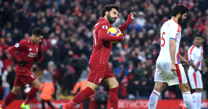Salah 31 - Keeper error and Salah double helps Liverpool go seven clear