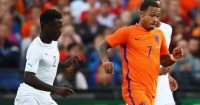 during the International Friendly match between the Netherlands and Ivory Coast held at De Kuip or Stadion Feijenoord on June 4, 2017 in Rotterdam, Netherlands.
