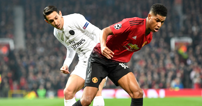 Angel Di Maria Marcus Rashford F365 - Solskjaer laments gulf in class as he issues Man Utd with double warning