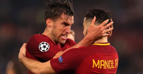 UEFA Champions League Quarter Final Second Leg match between AS Roma and FC Barcelona at Stadio Olimpico on April 10, 2018 in Rome, Italy.