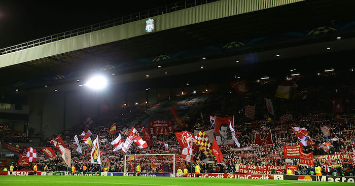 during the UEFA Champions League Group B match between Liverpool and Real Madrid CF on October 22, 2014 in Liverpool, United Kingdom.