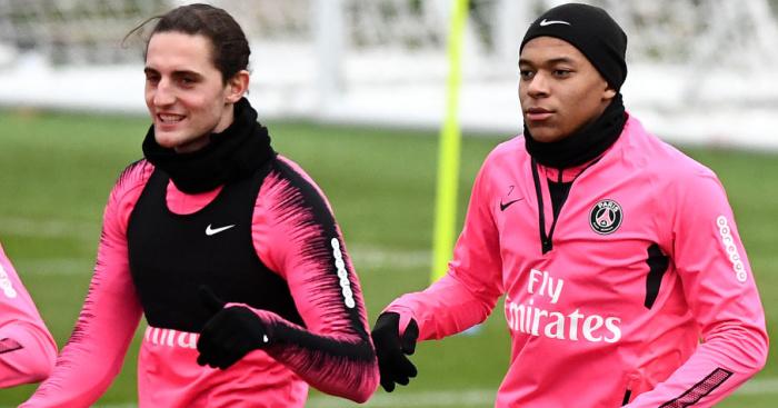 Adrien.Rabiot.Kylian.Mbappe1 - Man Utd informed of huge signing-on fee in bid to land PSG star Rabiot