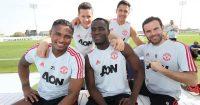 Antonio Valencia, Ander Herrera, Alexis Sanchez, Eric Bailly and Juan Mata
