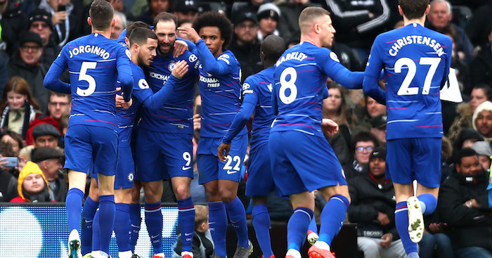 Gonzalo Higuain goal Chelsea v Fulham