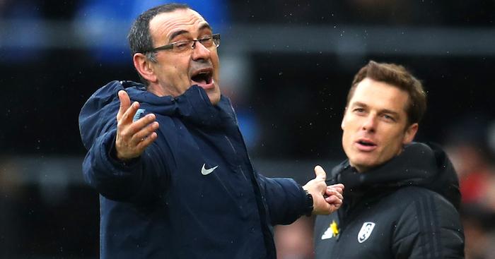 Maurizio Sarri Chelsea v Fulham