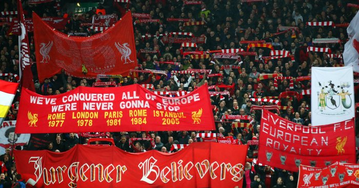 Liverpool fans Anfield TEAMtalk