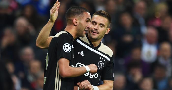 Dusan Tadic Hakim Ziyech Ajax Real Madrid - Paper Talk: Tottenham step up bid for £45m Ajax star; Zidane gives Pogba ultimatum