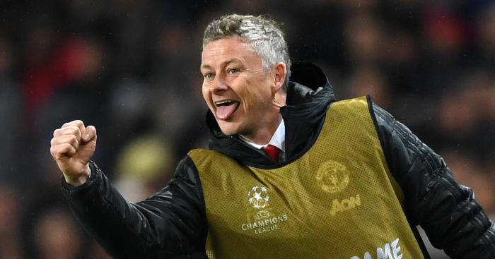 WATCH: Solskjaer show his class by chipping shot into dustbin