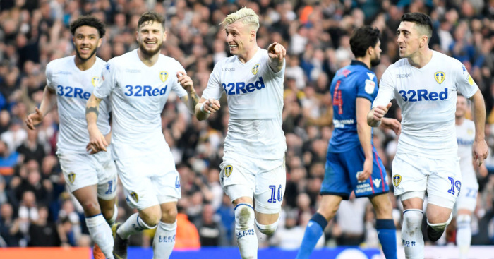 Ezgjan.Alioski.Pablo .Hernandez.Tyler .Roberts.Mateusz.Klich1 Leeds celeb - Klich names two biggest factors that kickstarted his Leeds career