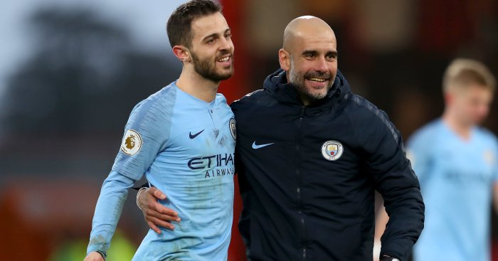 Bernardo Silva Pep Guardiola TEAMtalk