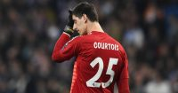 Real Madrid's Belgian goalkeeper Thibaut Courtois