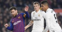 Messi Kroos Varane Barcelona Real Madrid