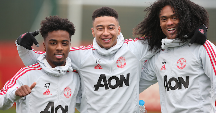 Angel Gomes Jesse Lingard Tahith Chong Manchester United