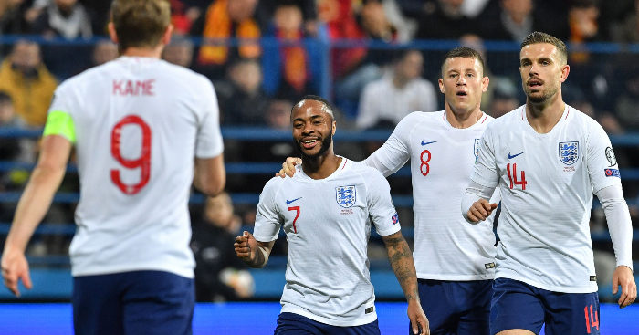 Raheem Sterling England Montenegro - Raheem Sterling explains celebration as he gives racists a piece of his mind