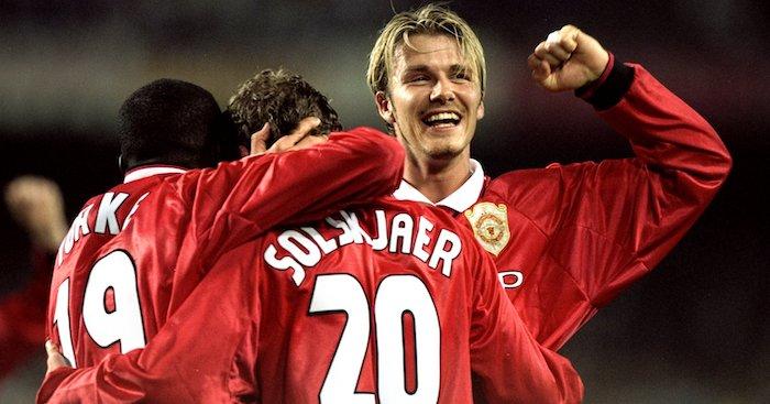 Dwight Yorke, Ole gunnar Solskjaer and David Beckham