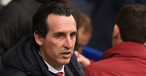 Arsenal's Spanish head coach Unai Emery