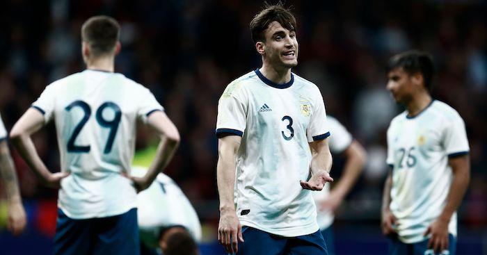 Argentina's defender Nicolas Tagliafico