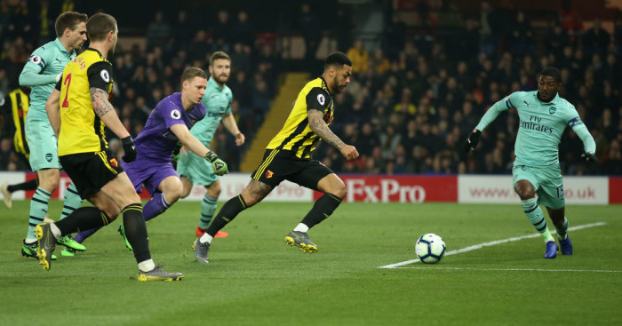 Andre.Gray .Ainsley.Maitland.Niles1  - Arsenal up to fourth as rare Foster blunder gifts win at Watford