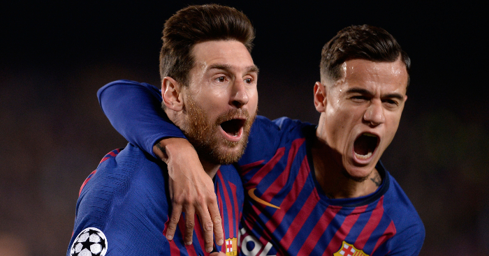 Messi Coutinho Celebrate Barcelona Man Utd 1 - Liverpool chief tells Coutinho some home truths over Barcelona move