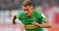 STUTTGART, GERMANY - APRIL 27: Thorgan Hazard of Mönchengladbach in action during the Bundesliga match between VfB Stuttgart and Borussia Moenchengladbach at Mercedes-Benz Arena on April 27, 2019 in Stuttgart, Germany. (Photo by Christian Kaspar-Bartke/Bongarts/Getty Images)