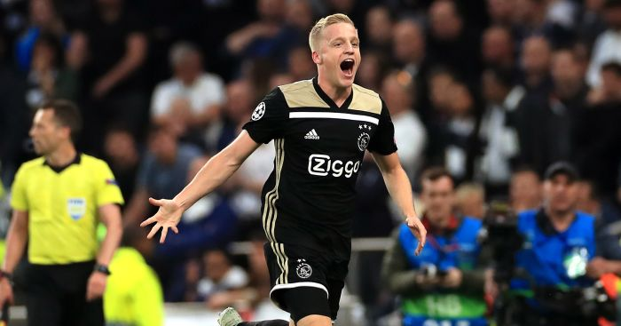 Donny.van .de .Beek  - Ajax star lets slip how Tottenham can overturn 1-0 deficit
