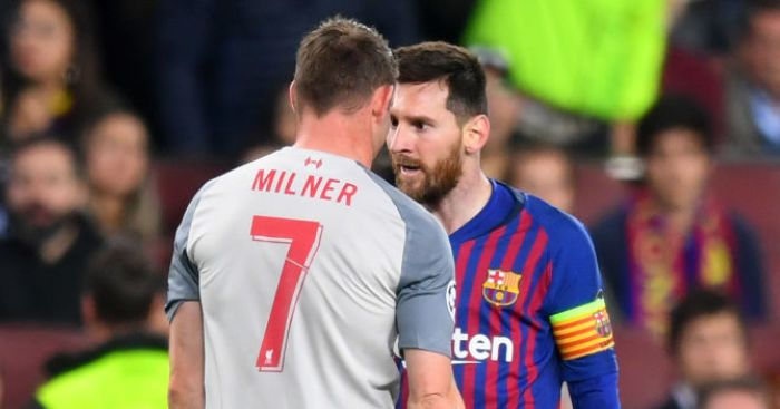 James Milner Lionel Messi TEAMtalk