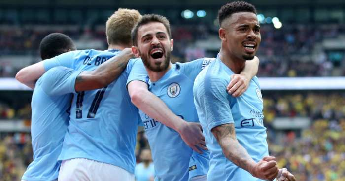 Bernardo Silva Gabriel Jesus Man City celeb v Watford FA Cup final - Gabriel Jesus adds to Man City crisis after withdrawing from Brazil squad