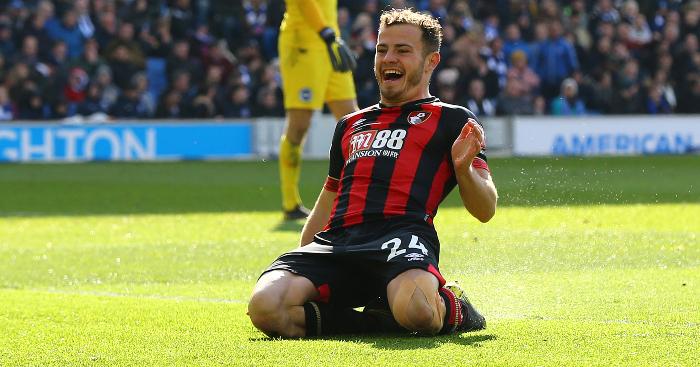 Ryan Fraser Celebrates Bournemouth - Dan James was back-up after Man Utd baulked at £40m winger deal