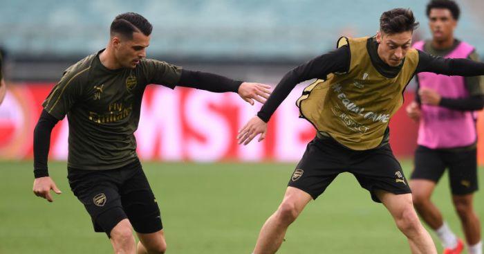 Xhaka Ozil Arsenal TEAMtalk
