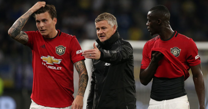 Ole.Gunnar.Solskjaer.Eric .Bailly.Victor.Lindelof1 - Solskjaer excited, as he hints Man Utd man facing axe for resurgent star