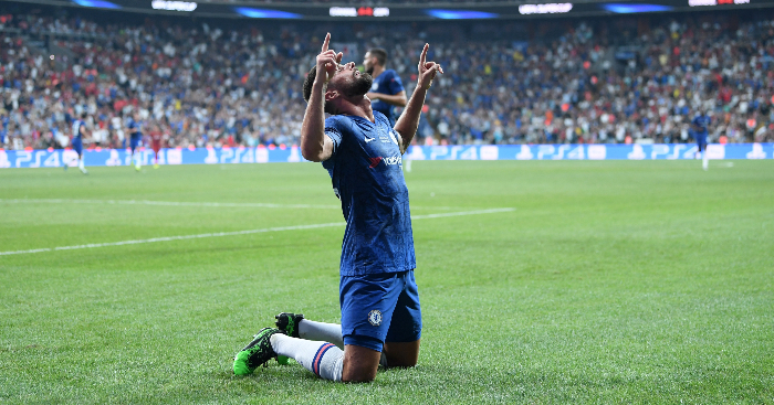 Olivier Giroud Celebrates Liverpool Chelsea European Super Cup - Adrian the hero as Liverpool beat Chelsea on penalties to lift Super Cup