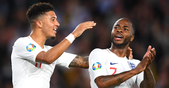 Jadon Sancho Raheem Sterling England 5 3 Kosovo - Carragher on why Man Utd, Liverpool move for Sancho is 'no brainer'