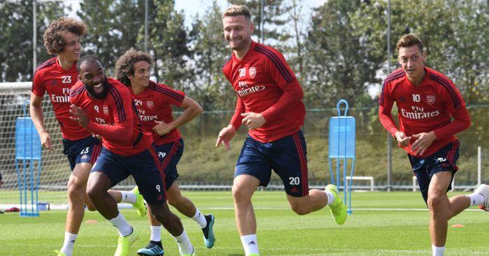 David Luiz, Alexandre Lacazette, Matteo Guendouzi, Shkodran Mustafi, Mesut Ozil TEAMtalk