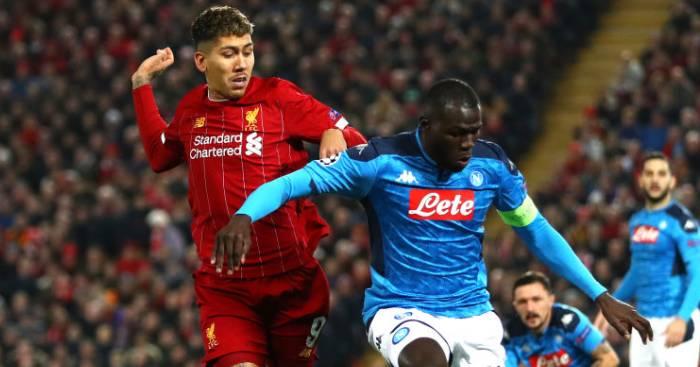 Roberto Firmino Kalidou Koulibaly Liverpool Napoli TEAMtalk