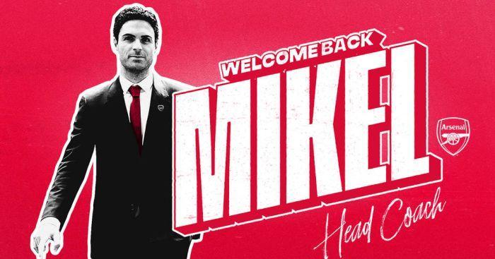 Mikel Arteta (pic via Arsenal FC)
