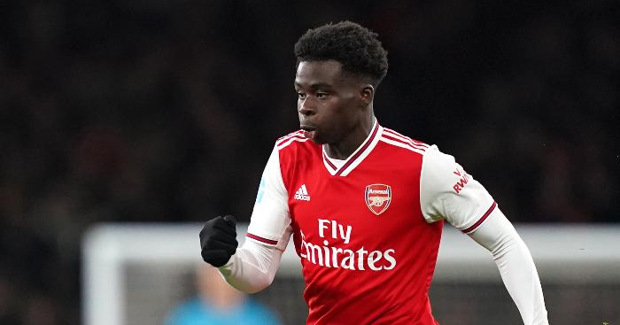 Bukayo Saka Arsenal TEAMtalk