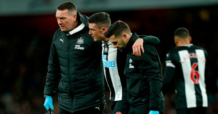 Blow for Newcastle as yet another defender is ruled out for season - team talk
